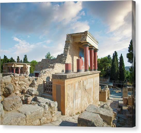 Palace Of Knossos, Crete, Greece Canvas Print