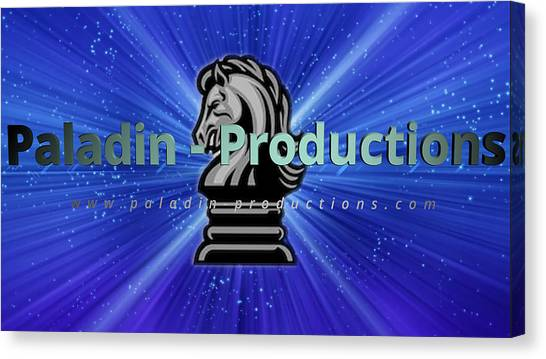 Paladin-productions.com Logo Canvas Print