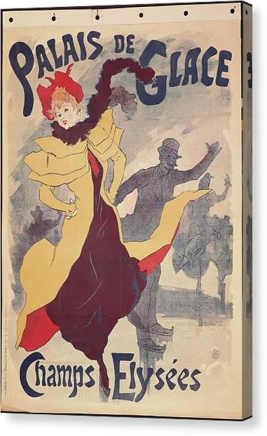 Palais De Glace, By Jules Cheret, 1893 Canvas Print