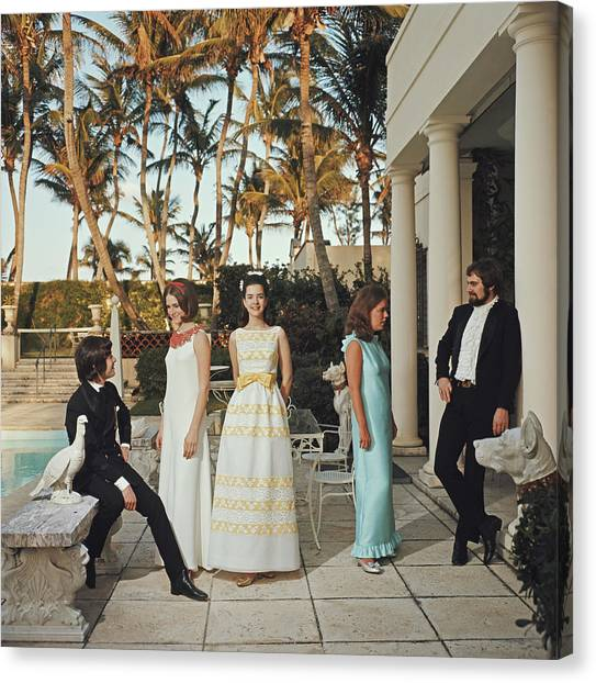 Palm Beach Debutantes Canvas Print