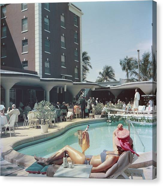 Palm Beach Canvas Print by Slim Aarons