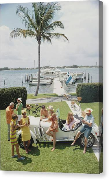 Palm Beach Society Canvas Print