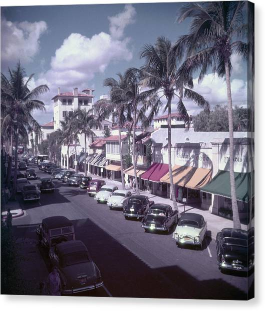 Palm Beach Street Canvas Print