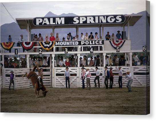 Sports Clothing Canvas Print - Palm Springs Rodeo by Slim Aarons