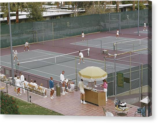 Palm Springs Tennis Club Canvas Print