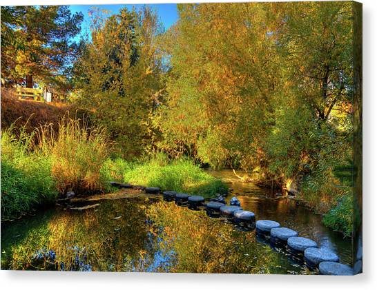 Canvas Print featuring the photograph Palouse River Reflections by David Patterson