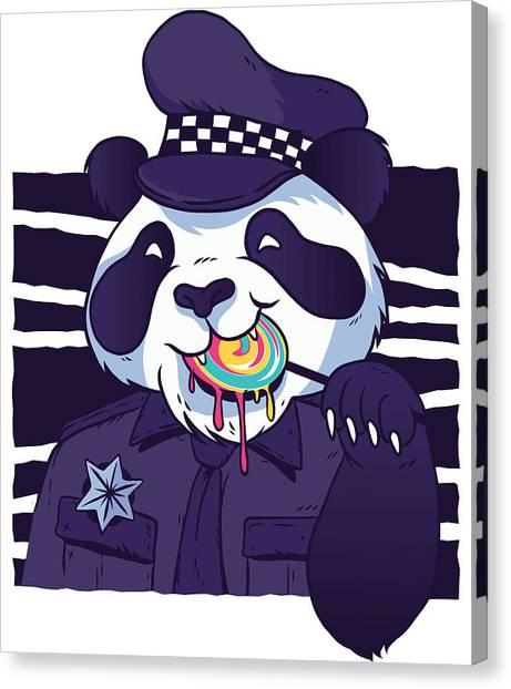 Fun Run Canvas Print - Panda Police by Tom Cage