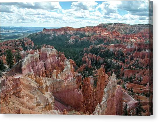 Panorama  From The Rim, Bryce Canyon  Canvas Print