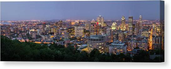 Panorama Of Montreal Skyline Canvas Print by Wichan Yingyongsomsawas