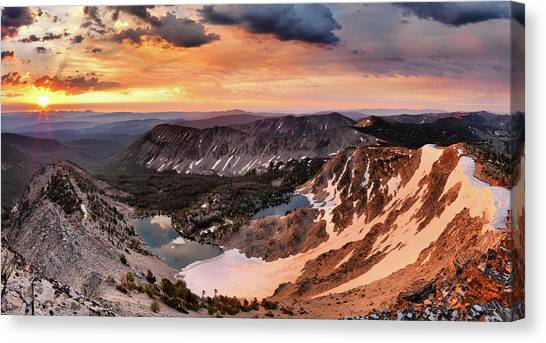 Panoramic Cdt Sunrise Canvas Print by Leland D Howard