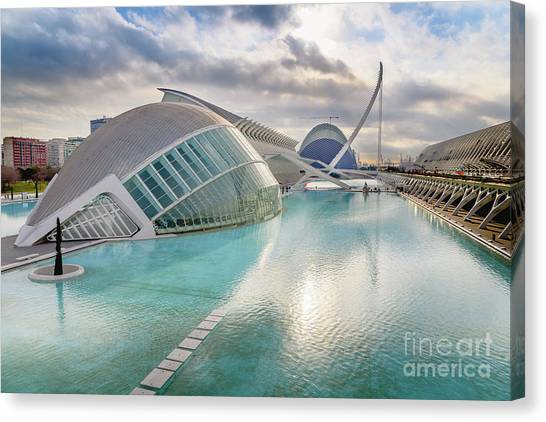 Panoramic Cinema In The City Of Sciences Of Valencia, Spain, Vis Canvas Print