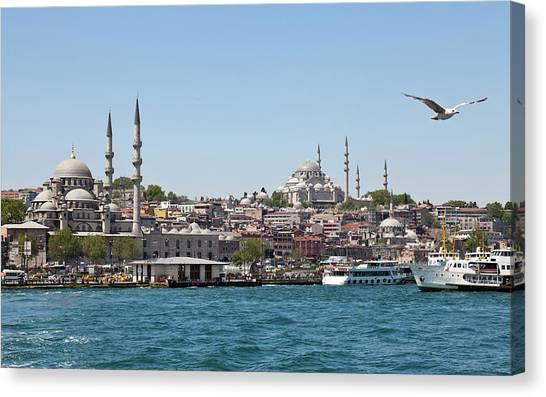 Suleymaniye Canvas Print - Panoramic Istanbul by Sinankocaslan