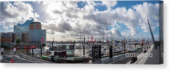 Panoramic View Of Hamburg Canvas Print