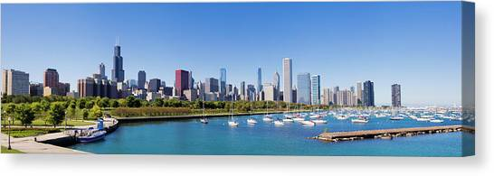 Panoramic View Of The Chicago City Canvas Print