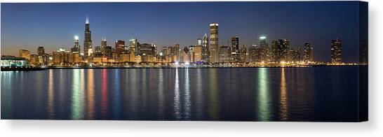 Panoramic View Of The Chicago Skyline Canvas Print