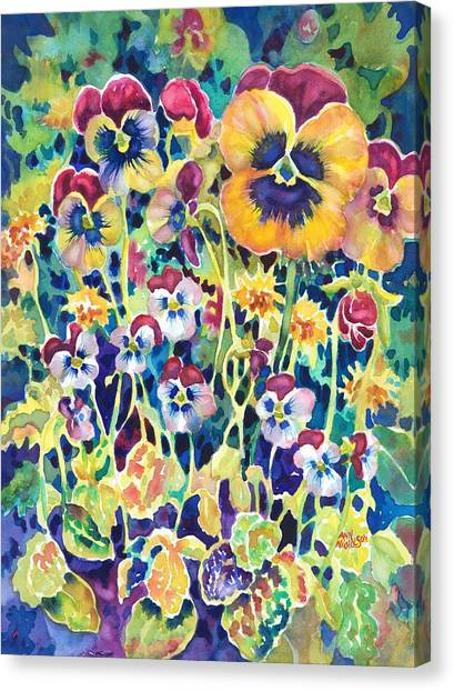 Pansies And Violas Canvas Print