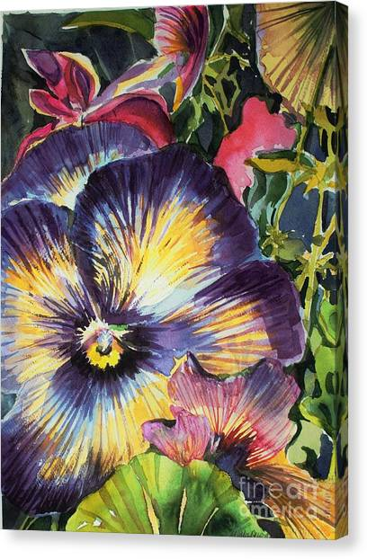 Canvas Print - Pansy Paradise by Mindy Newman