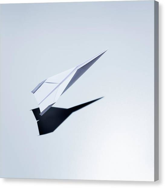 Paper Plane Taking Off Canvas Print by Jorg Greuel