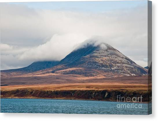 British Canvas Print - Paps Of Jura Mountains On The Isle Of by Jaime Pharr
