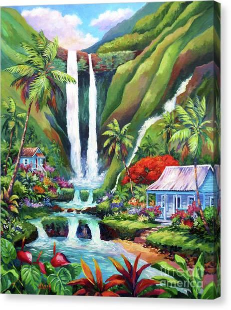 Costa Rican Canvas Print - Paradise Falls by John Clark