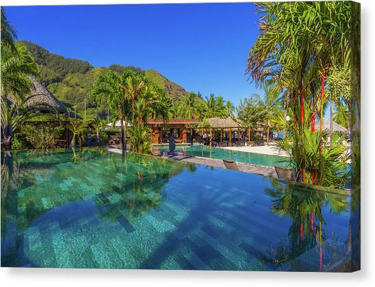 Snorkling Canvas Print - Paradise On Earth Mo'orea French Polynesia by Scott McGuire