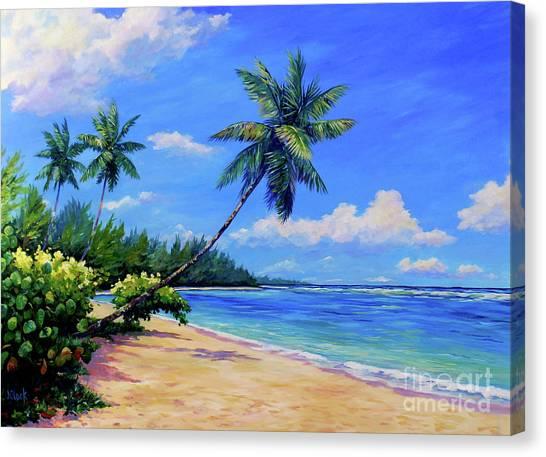 Paradise Palms Canvas Print by John Clark