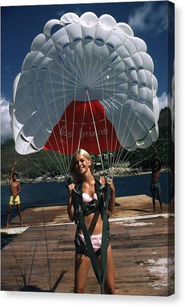 Paraglider Canvas Print by Slim Aarons