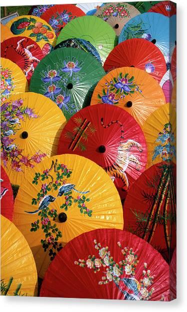 Parasols Canvas Print