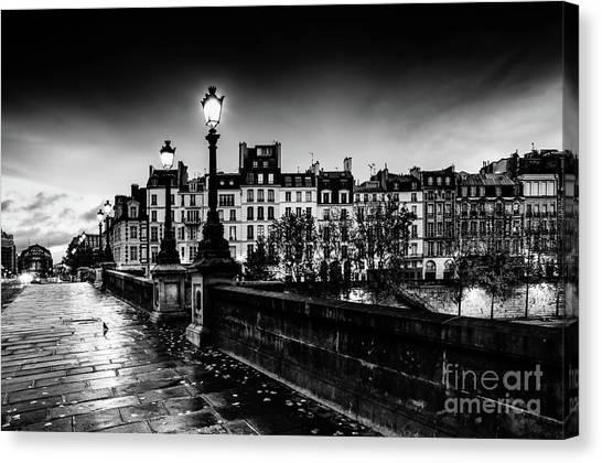 Paris At Night - Pont Neuf Canvas Print