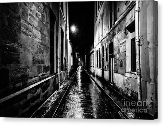 Paris At Night - Rue Visconti Canvas Print