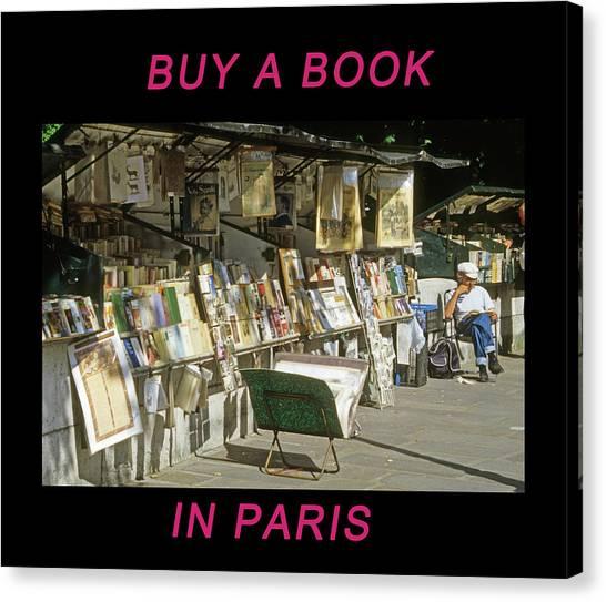 Paris Bookseller Canvas Print