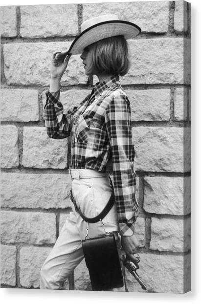 Paris. Summer Fashion. Cowboy Set Canvas Print