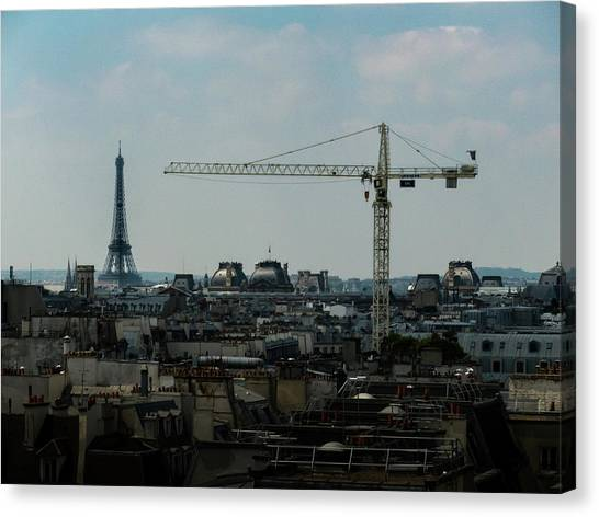 Canvas Print featuring the photograph Paris Towers by Juan Contreras