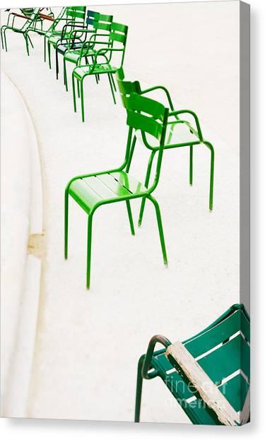 Parisian Metallic Chairs. Photo With Canvas Print by Anatoli Styf