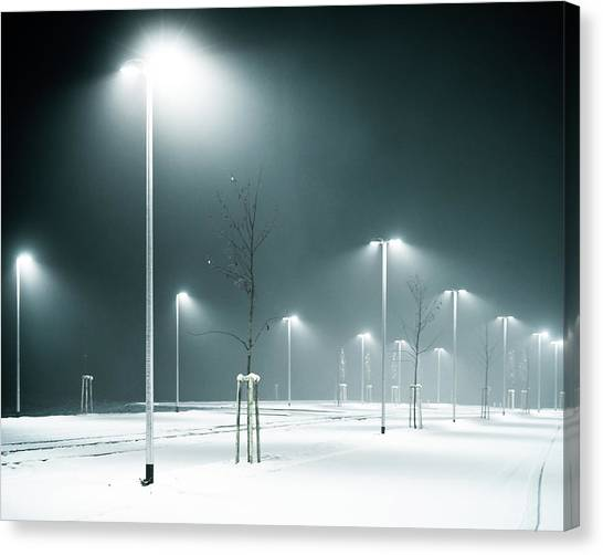 Parking Lot Canvas Print by Photography By Andreas Strauch