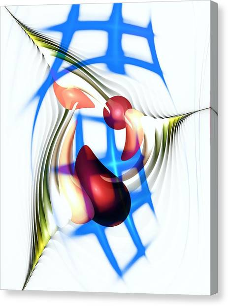 Canvas Print featuring the digital art Parkour by Anastasiya Malakhova