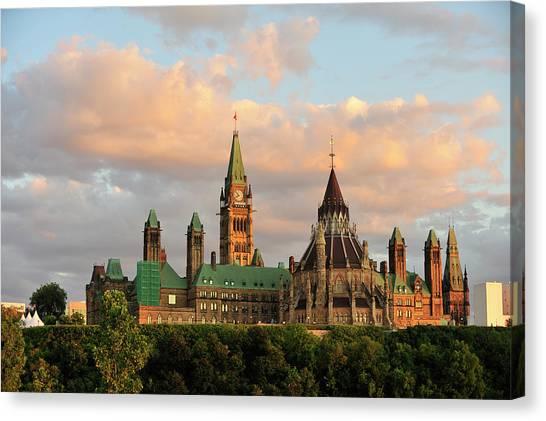 Parliament Hill Canvas Print - Parliament Building In Ottawa, Onratio by Serega