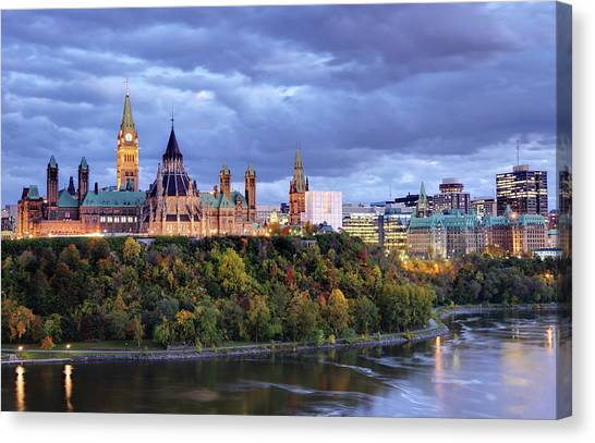 Parliament Hill Canvas Print - Parliament Hill  Ottawa, Canada by Denistangneyjr
