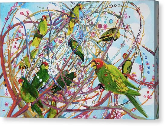 Parrot Bramble Canvas Print