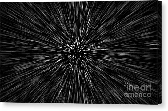 Speed Canvas Print - Particle Or Space Traveling. Particle by Aperture75