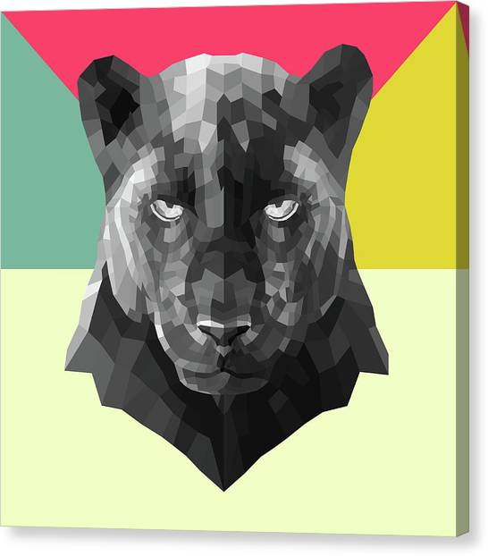 Lynx Canvas Print - Party Panther by Naxart Studio