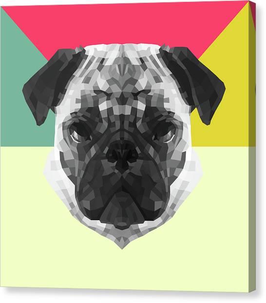 Lynx Canvas Print - Party Pug by Naxart Studio