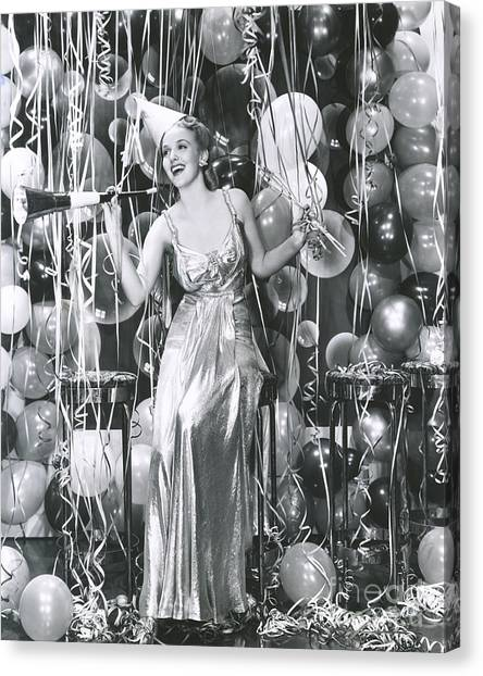 Style Canvas Print - Partying Into The New Year by Everett Collection