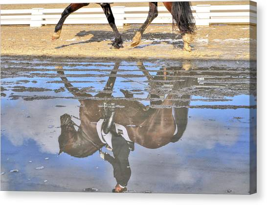 Canvas Print featuring the photograph Pas De Deux Reflected by JAMART Photography