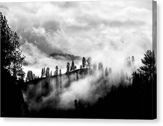 Passing Storm Central Idaho Mountains Canvas Print