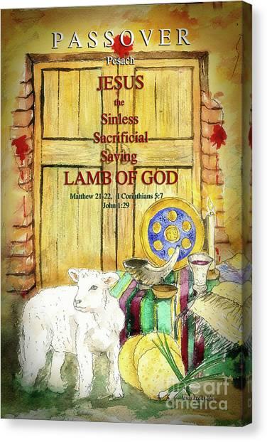Passover - Jesus - Lamb Of God Canvas Print