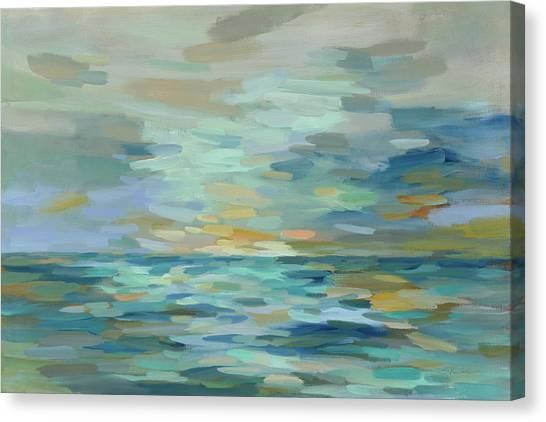 Pastel Blue Sea Canvas Print by Silvia Vassileva