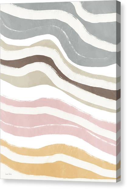 Organic Canvas Print - Pastel Waves 2- Art By Linda Woods by Linda Woods