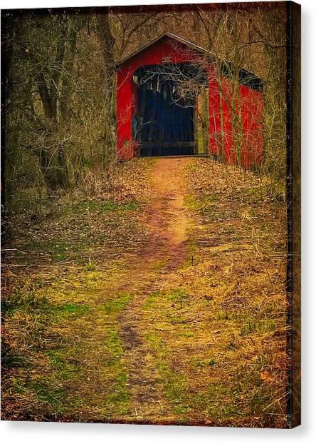 Path To Bridge Canvas Print