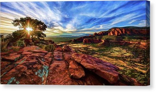 Pathway To The Light Canvas Print